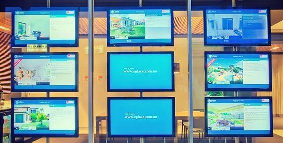 Comunicação Montra Digital e Digital Signage para Imobiliárias