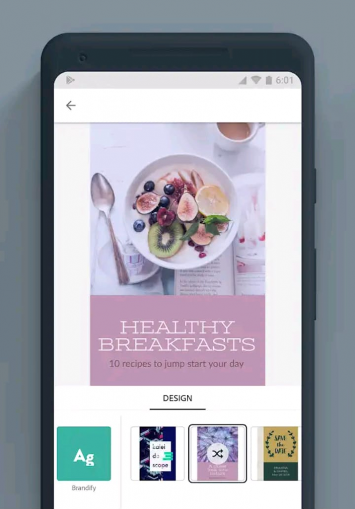 printscreen da app adobe spark